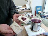 making molds. casting workshop with Peter Bauhuis